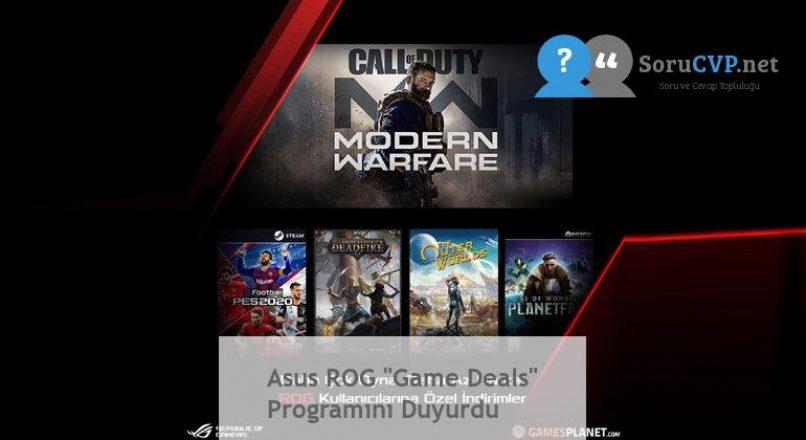 "Asus ROG ""Game Deals"" Programını Duyurdu"