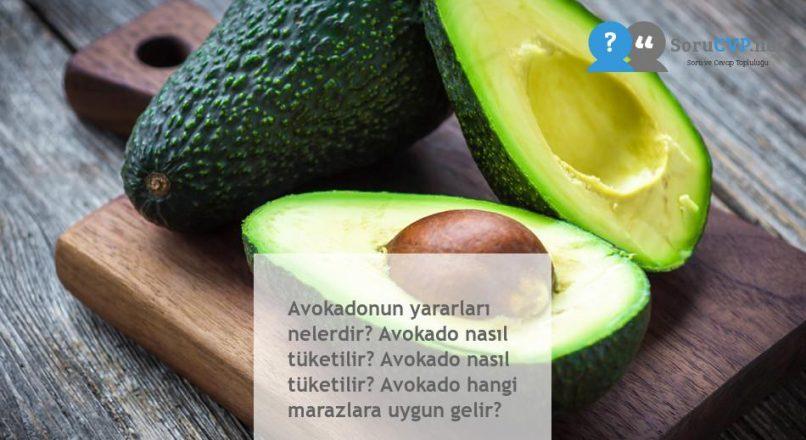 Avokadonun yararları nelerdir? Avokado nasıl tüketilir? Avokado nasıl tüketilir? Avokado hangi marazlara uygun gelir?