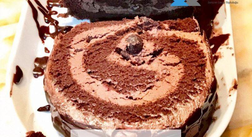 Çikolatalı İsviçre rulosu (Swissroll)