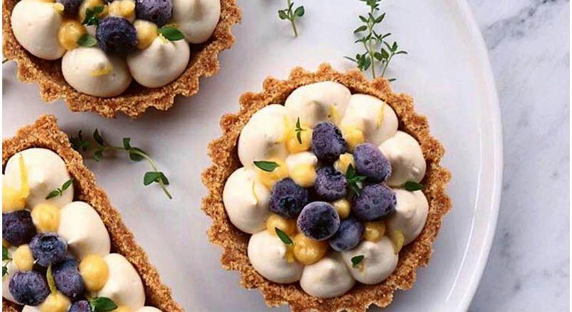 Limon kremalı cheesecake tart
