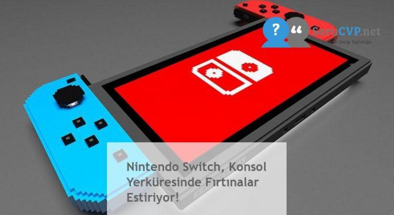Nintendo Switch, Konsol Yerküresinde Fırtınalar Estiriyor!