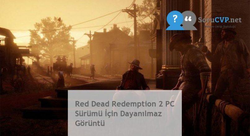 Red Dead Redemption 2 PC Sürümü İçin Dayanılmaz Görüntü