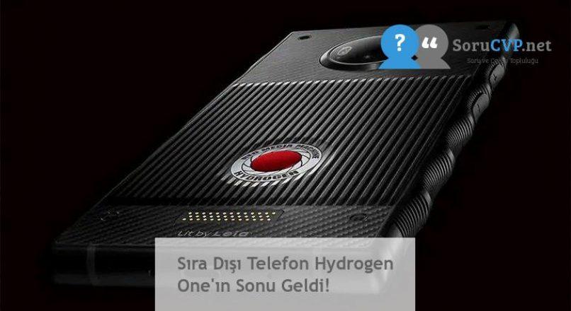 Sıra Dışı Telefon Hydrogen One'ın Sonu Geldi!