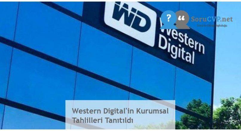 Western Digital'in Kurumsal Tahlilleri Tanıtıldı