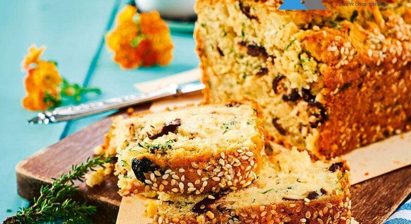 Zeytinli-Hellimli tuzlu kek