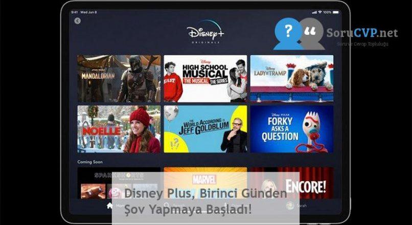 Disney Plus, Birinci Günden Şov Yapmaya Başladı!