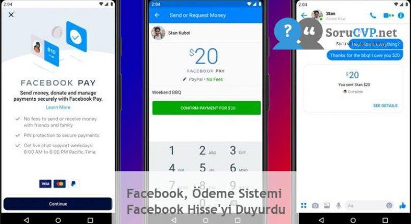 Facebook, Ödeme Sistemi Facebook Hisse'yi Duyurdu