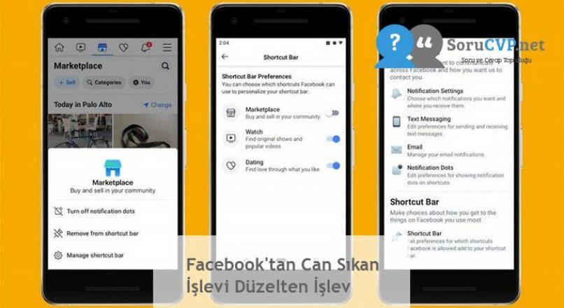 Facebook'tan Can Sıkan İşlevi Düzelten İşlev