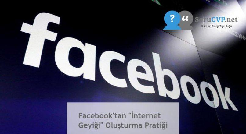"""Facebook'tan """"İnternet Geyiği"""" Oluşturma Pratiği"""
