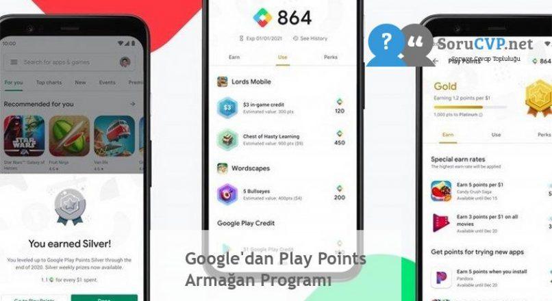 Google'dan Play Points Armağan Programı
