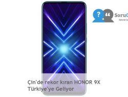 Çin'de rekor kıran HONOR 9X Türkiye'ye Geliyor