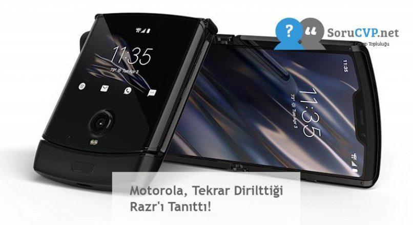 Motorola, Tekrar Dirilttiği Razr'ı Tanıttı!