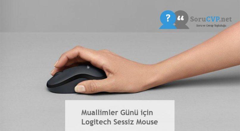 Muallimler Günü için Logitech Sessiz Mouse