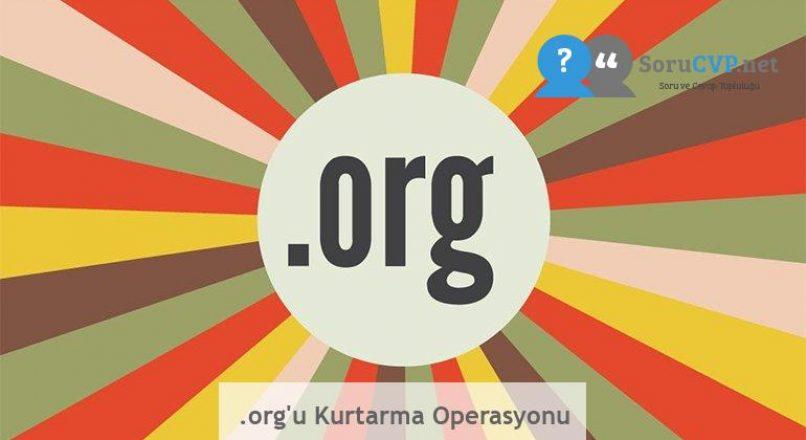 .org'u Kurtarma Operasyonu