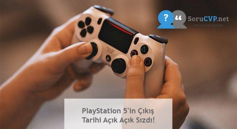 PlayStation 5'in Çıkış Tarihi Açık Açık Sızdı!