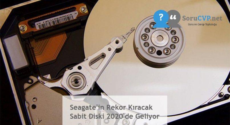 Seagate'in Rekor Kıracak Sabit Diski 2020'de Geliyor