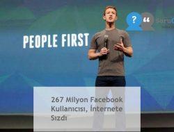 267 Milyon Facebook Kullanıcısı, İnternete Sızdı