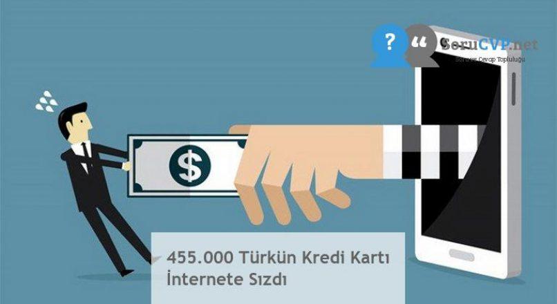 455.000 Türkün Kredi Kartı İnternete Sızdı