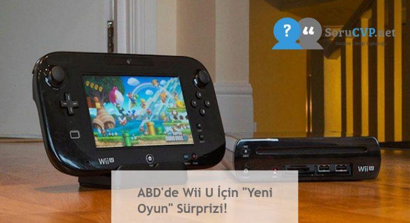 """ABD'de Wii U İçin """"Yeni Oyun"""" Sürprizi!"""
