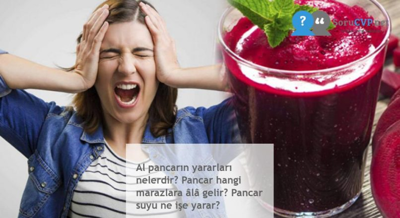 Al pancarın yararları nelerdir? Pancar hangi marazlara âlâ gelir? Pancar suyu ne işe yarar?