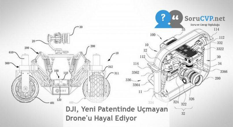 DJI, Yeni Patentinde Uçmayan Drone'u Hayal Ediyor