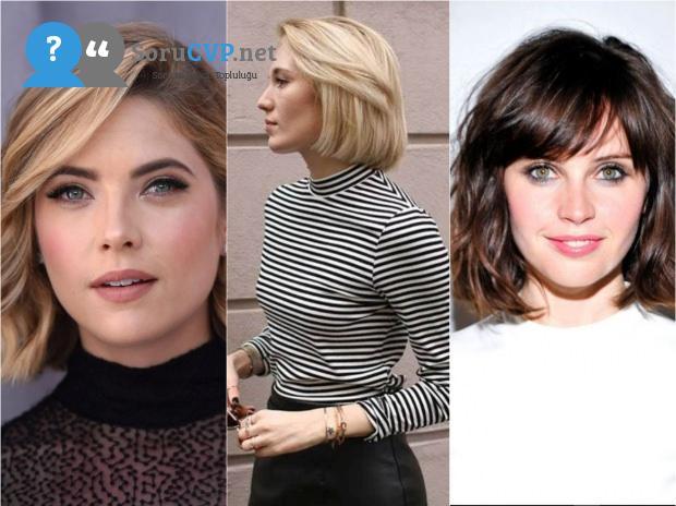 kısa saç modelleri 2020