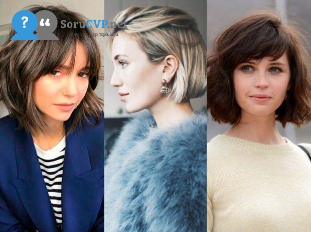bayanlar için kısa saç modeli