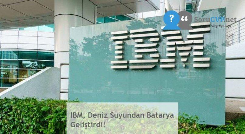 IBM, Deniz Suyundan Batarya Geliştirdi!