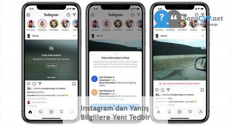 Instagram'dan Yanlış Bilgillere Yeni Tedbir