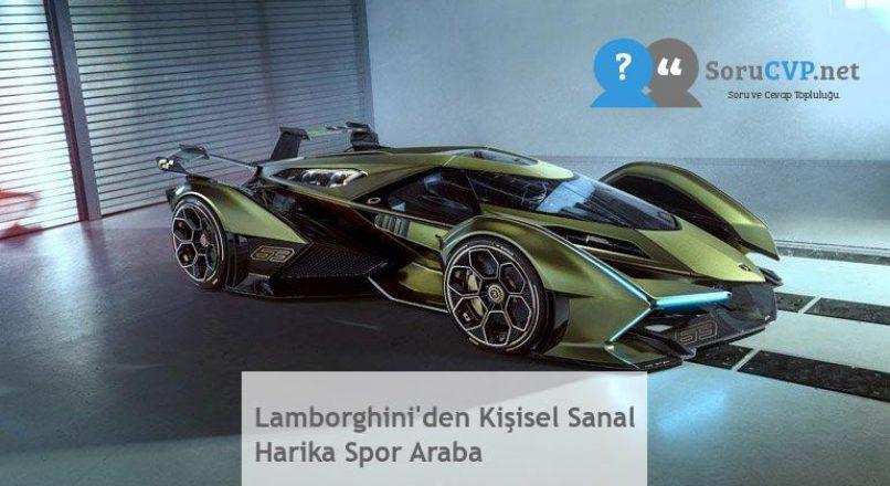 Lamborghini'den Kişisel Sanal Harika Spor Araba