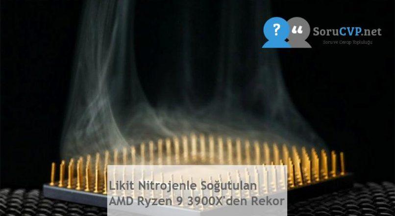Likit Nitrojenle Soğutulan AMD Ryzen 9 3900X'den Rekor