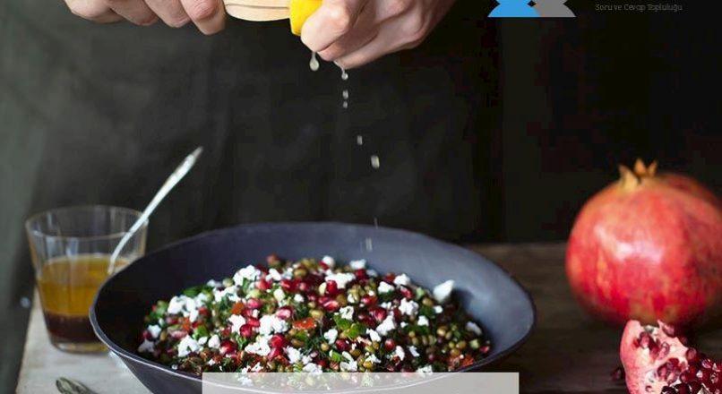 Maş fasulyeli ve narlı salata