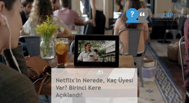 Netflix'in Nerede, Kaç Üyesi Var? Birinci Kere Açıklandı!