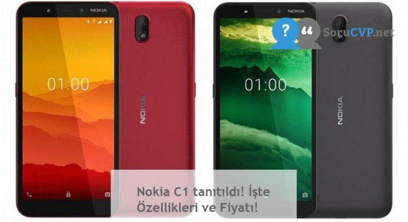 Nokia C1 tanıtıldı! İşte Özellikleri ve Fiyatı!