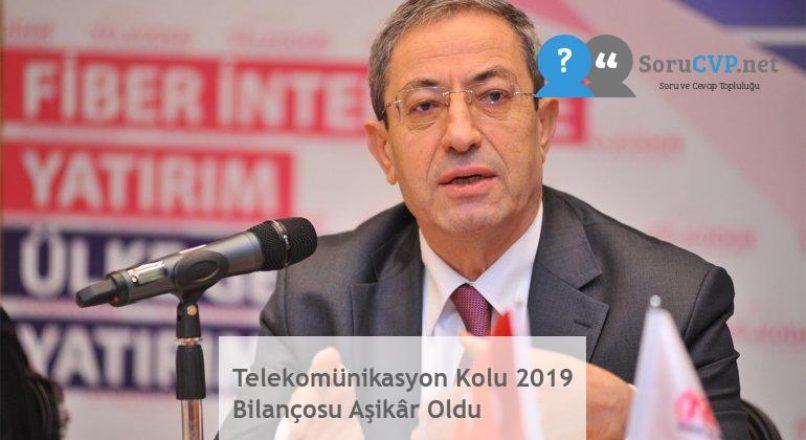 Telekomünikasyon Kolu 2019 Bilançosu Aşikâr Oldu