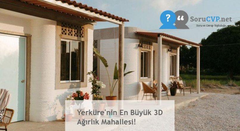 Yerküre'nin En Büyük 3D Ağırlık Mahallesi!