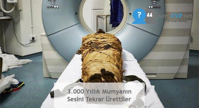 3.000 Yıllık Mumyanın Sesini Tekrar Ürettiler