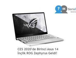CES 2020'de Birinci Asus 14 İnçlik ROG Zephyrus Geldi!