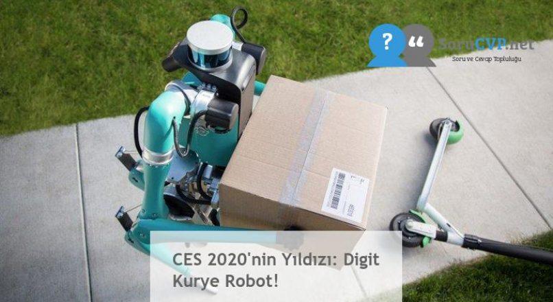 CES 2020'nin Yıldızı: Digit Kurye Robot!