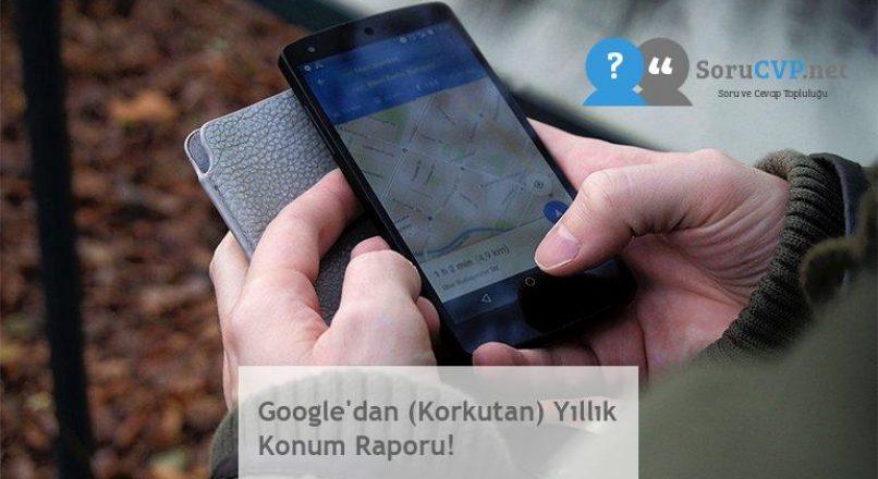 Google'dan (Korkutan) Yıllık Konum Raporu!