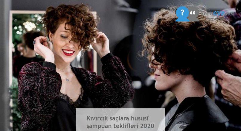 Kıvırcık saçlara hususî şampuan teklifleri 2020