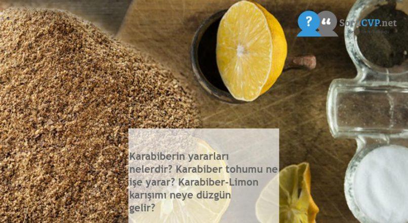 Karabiberin yararları nelerdir? Karabiber tohumu ne işe yarar? Karabiber-Limon karışımı neye düzgün gelir?