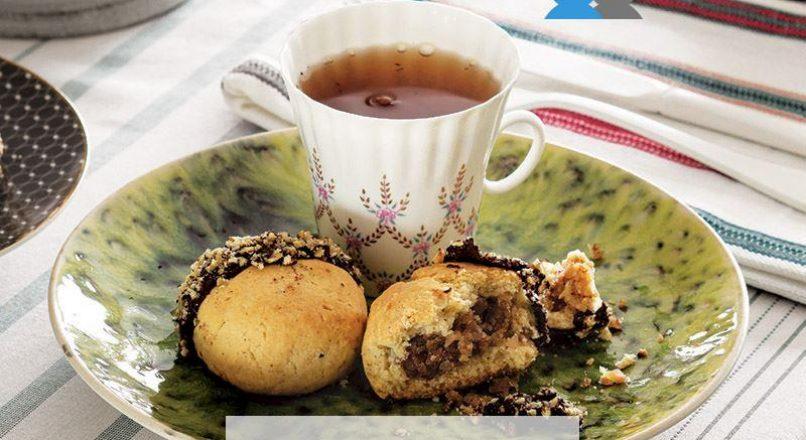 Kestaneli ve çikolatalı kurabiye