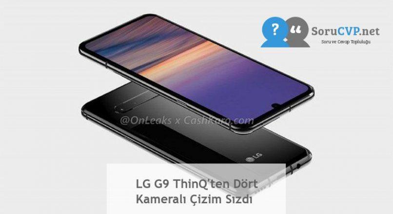 LG G9 ThinQ'ten Dört Kameralı Çizim Sızdı
