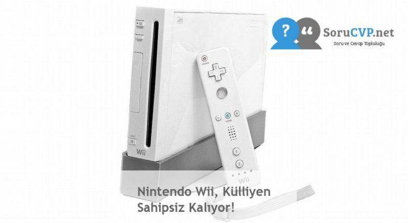 Nintendo Wii, Külliyen Sahipsiz Kalıyor!