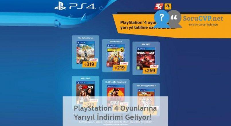 PlayStation 4 Oyunlarına Yarıyıl İndirimi Geliyor!