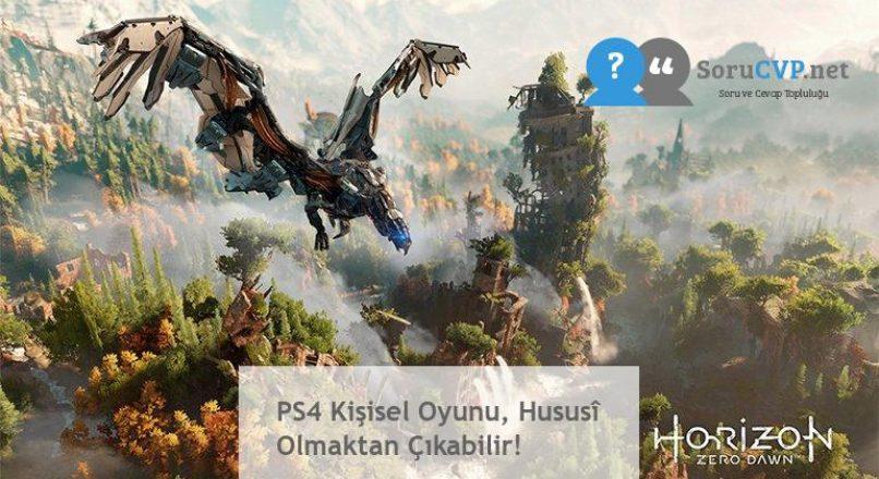 PS4 Kişisel Oyunu, Hususî Olmaktan Çıkabilir!