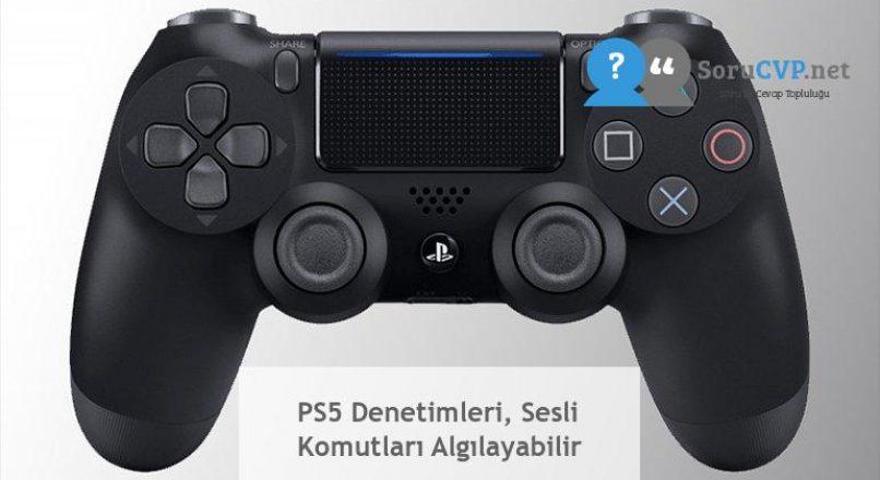 PS5 Denetimleri, Sesli Komutları Algılayabilir