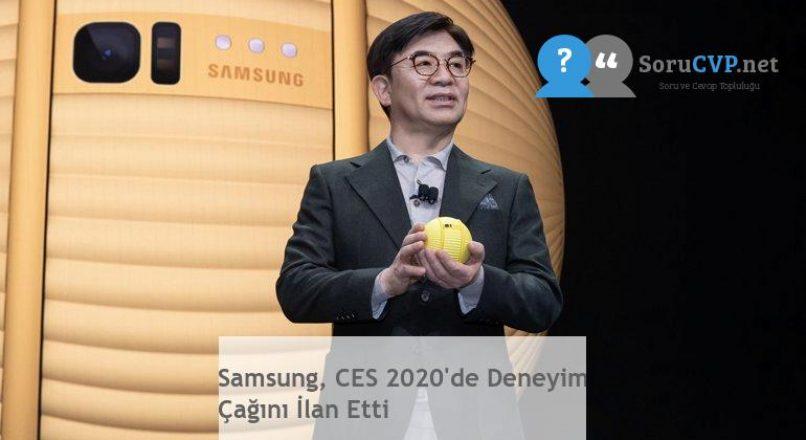 Samsung, CES 2020'de Deneyim Çağını İlan Etti
