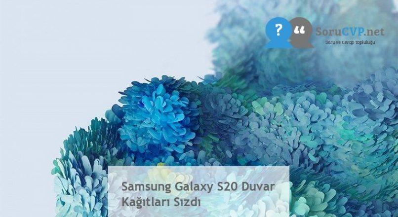 Samsung Galaxy S20 Duvar Kağıtları Sızdı
